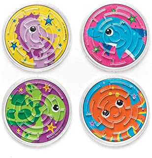 Baker Ross Sea Life Buddies Maze Puzzle (Pack of 8) for Kids Party Bag Filler
