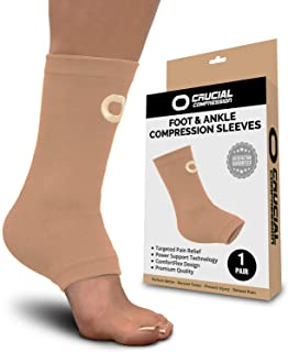 Ankle Brace Compression Support Sleeve (1 Pair) – BEST Ankle Compression Socks for..