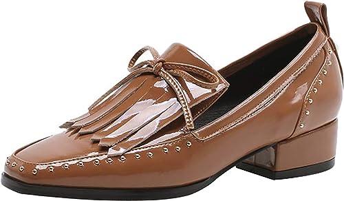 Calaier Femme LIDA Square-Toe 3.5CM Glisser sur Escarpins Chaussures