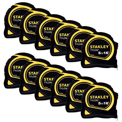 12 Stanley 5m Tape Measure 5 Metre  16ft 130696 Tylon 1-30-696 Measuring New !