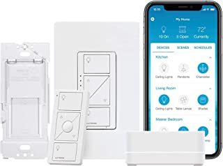 Lutron Caseta Smart Start Kit,  Dimmer Switch with Smart...