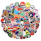 100PCS Popular Logo Brand Stickers Water Bottle Sticker Laptop Computer Bedroom Wardrobe Car Skateboard Motorcycle Bicycle Mobile Phone Luggage Guitar DIY Decal (Popular Logo 100)