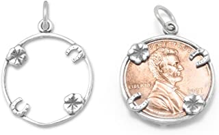 Lucky Penny Holder Sterling Silver Charm - Made in the USA
