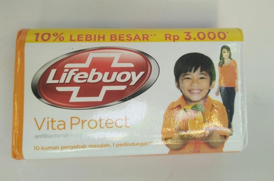 影響する拮抗背景Lifebouy ヴィータは抗菌石鹸、85グラムを守ります