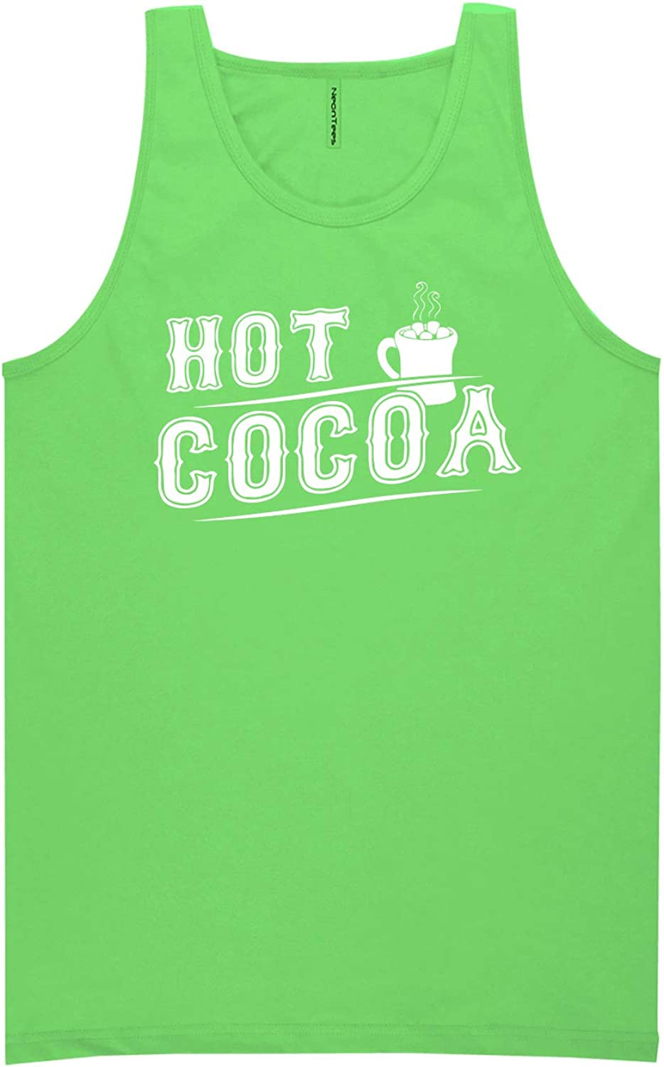 Hot Cocoa Neon Green Tank Top - XX-Large