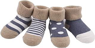 [4 Pairs] baby socks [Delicate Workmanship] [Soft Cotton Fabric] [Fun & Cute]