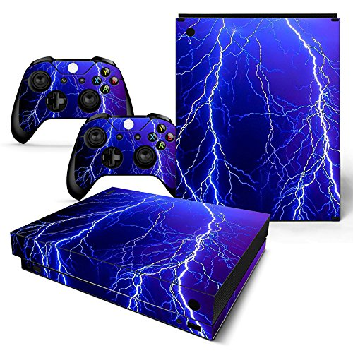 Microsoft XBOX ONE X Skin Design Foils Aufkleber Schutzfolie Set - Lightning Motiv