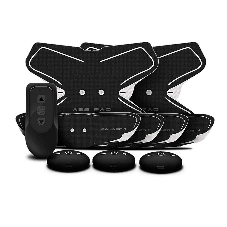 石膏ハードウェアプーノフィットネス薄いベルト、腹部筋肉トナーボディボディ腹部ベルト男性のスマート腹部腹部カラーベルトリモコンフィットネス運動筋肉腹部トレーナー (Color : BLACK, Size : 20.5*15.5CM)