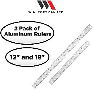 Aluminum Ruler Set -2 Pack of 12 & 18