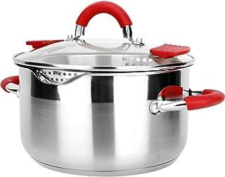 Ollas Soperas Olla con labio anti-sucio acero inoxidable sopa de olla olla de cocina utensilios de cocina (Capacity : 3 4L)