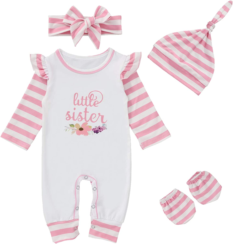 Baby Girl Little Sister Sale item Virginia Beach Mall Clothes Newborn Long Romper Flora Sleeve