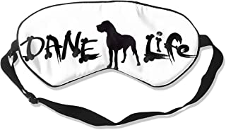 Eyeboygril9 Danish Life and Dogs 100% Silk Sleep Mask for Men Women 3D Contoured Night Sleep Mask Block Out Light,Eye Shade Cover for Your Sleep
