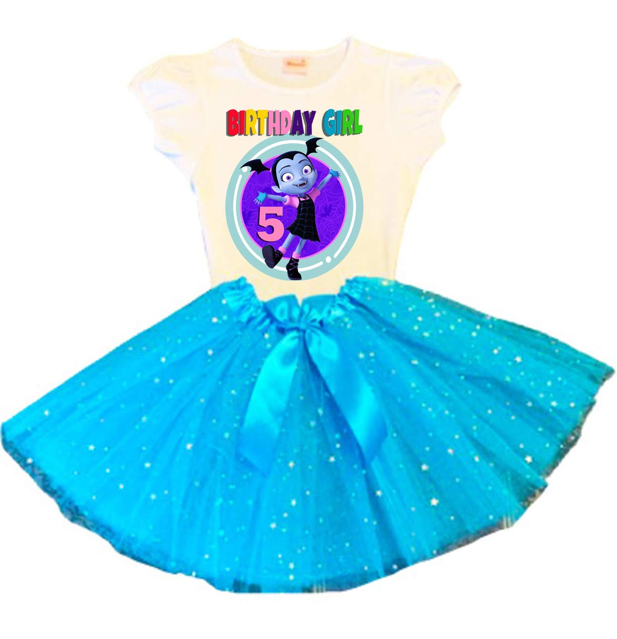 VAMPIRINA Birthday Tutu 5th Party Turquoise New product Direct sale of manufacturer type Dress