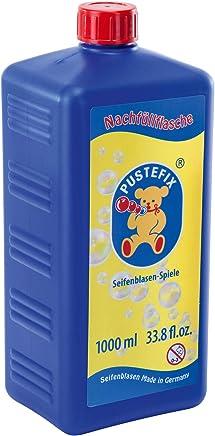 PUSTEFIX Nachfüllflasche Maxi I 1000 ml Seifenblasenflüssigkeit I Bubbles Made in Germany I Seifenblasen für Hochzeit, Kindergeburtstag, Polterabend I Riesen-Seifenblasen für Kinder & Erwachsene