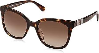 نظارة شمسية كيا/اس بتصميم مربع، لون هافانا مقاس 53 ملم للنساء من كيت سبيد نيو يورك