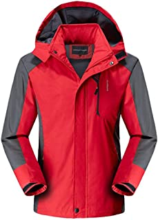 SPE969 Mens Mountain Waterproof Jacket,Autumn Casual Quick-Drying Breathable Sport Outdoor Coat