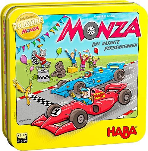 HABA 305849 - Monza Jubiläumsausgabe 20 Jahre in der Dose, Spiel ab 5 Jahren, made in Germany