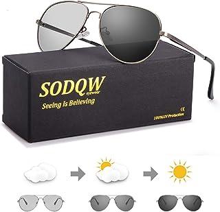 SODQW - gafas de sol fotocromaticas polarizadas hombre 100% UVA/UVB Protección