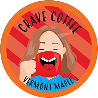 Crave Flavored Coffee Pods, Compatible with 2.0 K-Cup Brewers, Vermont Maple, 100 Count
