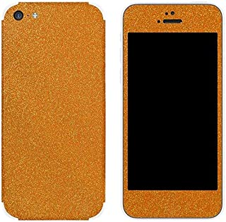 غلاف واقي من Slickwraps لجهاز آيفون 5c - برتقالي غامق - جلد - تغليف التجزئة - برتقالي غامق
