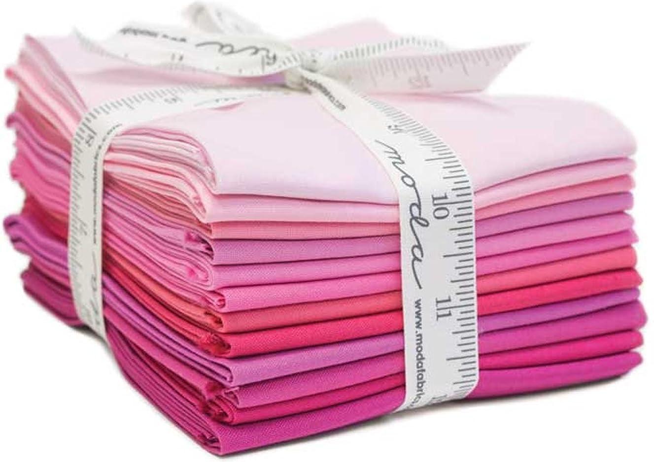 Bella Solids Pinks 12 Fat Quarters Moda Fabrics 9900AB 125