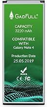 GadFull Batteria compatibile con Samsung Galaxy Note 4 | 2019 Data di produzione| Corrisponde al EB-BN910BBE originale| Compatibile con SM-N910F|SM-N910U|SM-N910C|SM-N910H|SM-N910A