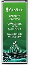 GadFull Batería de reemplazo para Samsung Galaxy Note 4 | 2019 Fecha de producción | Corresponde al Original EB-BN910BBE |Compatible con SM-N910F|SM-N910U|SM-N910C|SM-N910H|SM-N910A