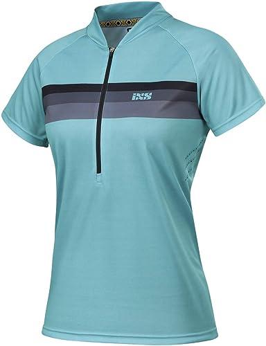 IXS Girls Jersey de Trail Manches Courtes Trail 6.1Turquoise Noir