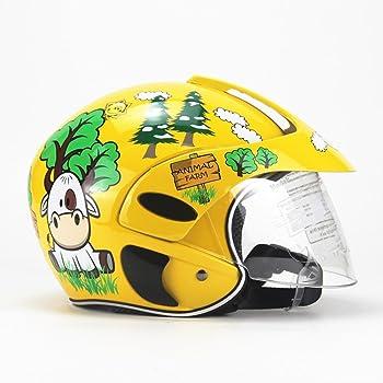 duhe189014 Enfants Casque De Moto Quatre Saisons Personnalit/é Casque De S/écurit/é Int/égral pour Enfants pour Gar/çon Filles /Équitation Patinage Moto