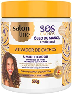 Linha Tratamento (SOS Cachos) Salon Line - Ativador De Cachos Umidificador 500 Gr - (Salon Line Treatment (SOS Curls) Collection - Moisturizing Curl Activator Net 17.65 Oz)