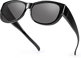 نظارات القيادة الليلية مناسبة للنظارات، نظارات HD المستقطبة المضادة للوهج التفاف حول الرؤية الليلية للرجال والنساء