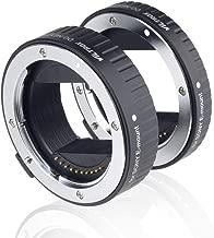 Viltrox DG-NEX Metal Mount Auto Focus AF Macro Extension Tube Ring Set 10mm,16mm for Sony E Mount Mirrorless Camera A9 A7RIII A7RII A7III A7II A7R A7 A6300 A6500 A6300 NEX-7
