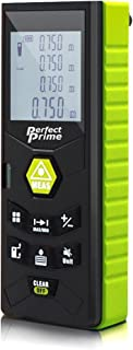 PerfectPrime RF0370, Laser Distance Digital Range Finder Meter Diastimeter Measuring Device With Clip & LevelBubble, 230ft / 70m, IP54 Water & Dust proof