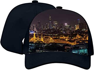 Unisex Adult Trucker Temple Nightscape Hat Fashion Adjustable Mesh Cap Baseball Cap