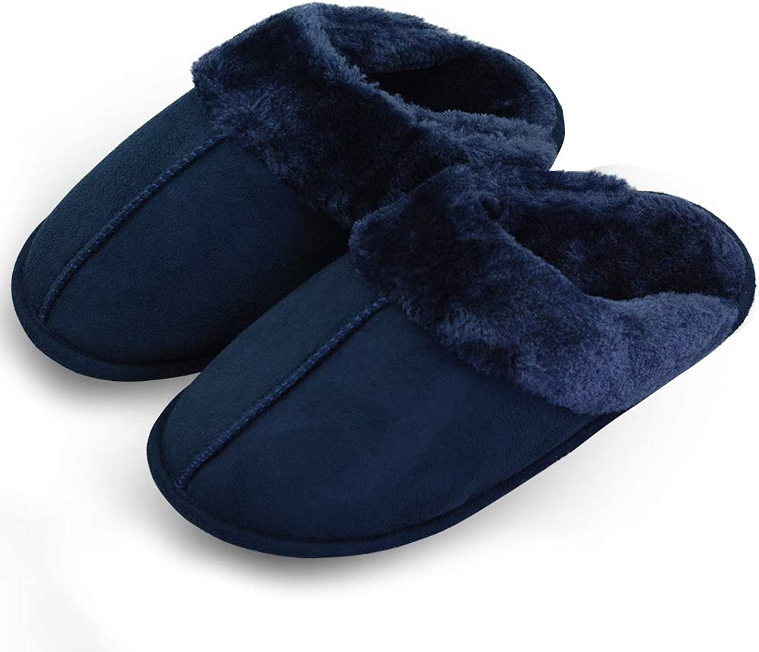 VLLY Women's Comfort Plush Slippers with Memory Foam Non-Slip House Indoor Slippers (FBA)