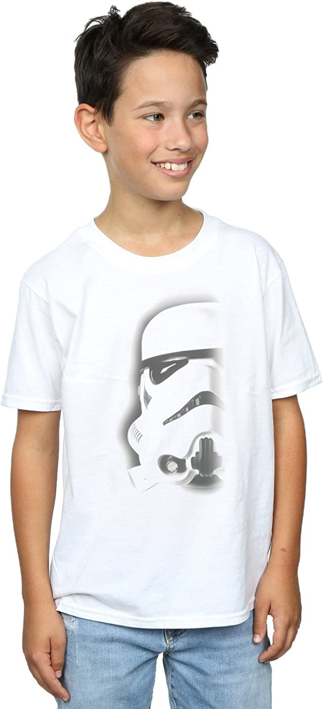 STAR WARS Boys Stormtrooper Face T-Shirt 5-6 Years White