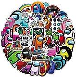 Lanseede 100 Pegatinas de Among Us Sticker Graffiti Stickers con Dibujos Animados para monopatín, Guitarra, portátil, Botella de Agua, PVC……