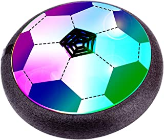 Verkstar Kids Toys Air Power Soccer Ball, Kids Disk Hover Ball Equipped with LED Lights, Sports Toys Foam Bumpers for Indoor Outdoor Activities