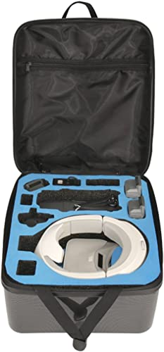Qiuxiaoaa Multifunktions-Hardshell-Rucksack-Schultertasche mit Größem Fassungsverm n für DJI Mavic Pro + DJI-VR-Brille, wasserdichter, robuster, kompakter Speicher-Hardcase