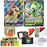 Totem World Pokemon V & VMAX Ultra Rare Guaranteed with 10 Rares, 10 Uncommon Foils, 40 Regular Cards, Totem Deck Box & Mini Binder Collectors Album in Storage Tin or Box