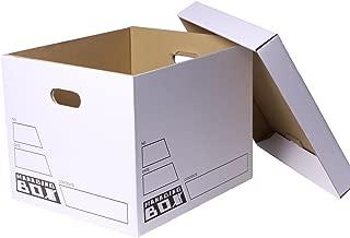 アースダンボール ダンボール マネージングボックス 白 書類 ファイル 収納用 保管用 5枚セット 【0341】