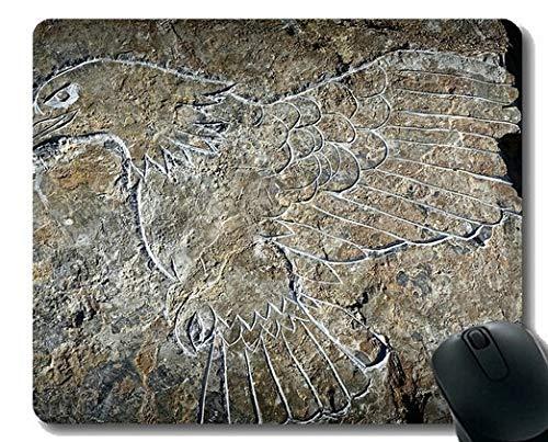 Mauspad mit Rastkante, Predation Carving rutschfeste Gummibasis Mousepad