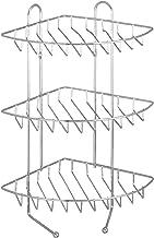 WENKO Exclusief hoekrek met 3 etages - 3 planken, 2 haken, staal, 26 x 44 x 30 cm, chroom