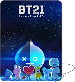 Nuofeng - Kpop BTS Cartoon Mouse Pad 'MAP of The Soul : Persona' Rectangle Mouse Pads for A.R.M.Y Tata, Chimmy, Shooky, Cooky, RJ, Mang, Koya(H09)