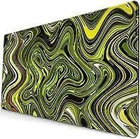 XIZYU カスタムカラフルなマウスパッド抽象緑ヘビデスクパッドマウスマット大ゲーミングキーボードマット大マウスパッド滑り止めラバーベース(31.5 * 11.8)インチ