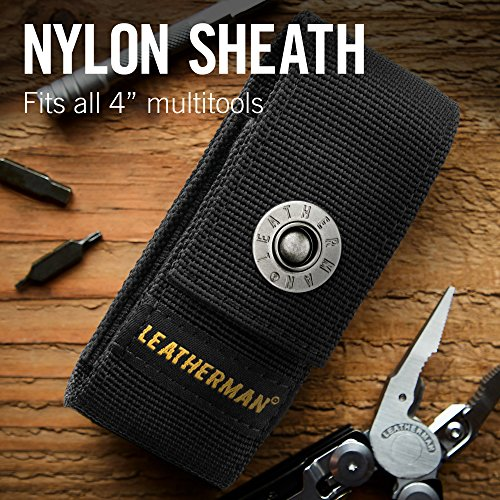LEATHERMAN, Wave Plus Multitool with Premium Replaceable Wire Cutters, Spring-Action Scissors and Nylon Sheath, Built in the USA, Stainless Steel