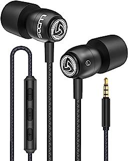 comprar comparacion LUDOS Clamor Auriculares con Micrófono y Cable, Cascos Espuma de Memoria, Cable Reforzado, Graves y Control de Volumen Ear...