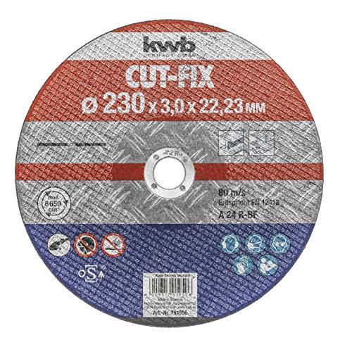 Preisvergleich Produktbild kwb Trennscheibe Cut-Fix 791950 (230 x 22,  3.0 mm dick,  für Metall und Stahl,  für Winkelschleifer)
