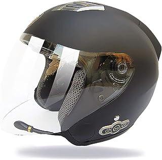 FM Dot Flip Touring Cascos Auriculares Bluetooth De Doble Altavoz Incorporados con Micr/ófono para Respuesta Autom/ática GWJ Cascos De Moto Modulares Bluetooth