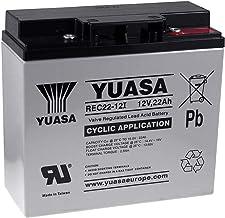 YUASA Batería de Reemplazo para SAI 12V 22Ah (Reemplaza también 17Ah 18Ah 19Ah) cíclica